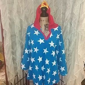 Wonder Woman fleece robe/sweatshirt/cape. One size